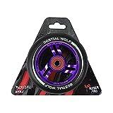 BESTIAL WOLF Rueda Race PU Color Negro y Core Violeta, Diámetro 110 mm
