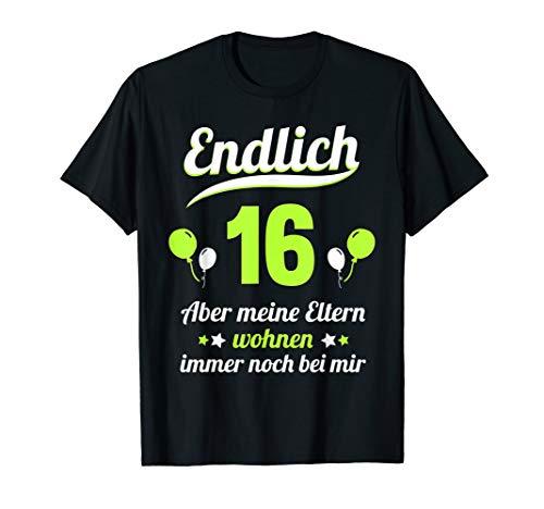 16. Geburtstag 16 Jahre Junge Mädchen Jahrgang 2004 Geschenk T-Shirt