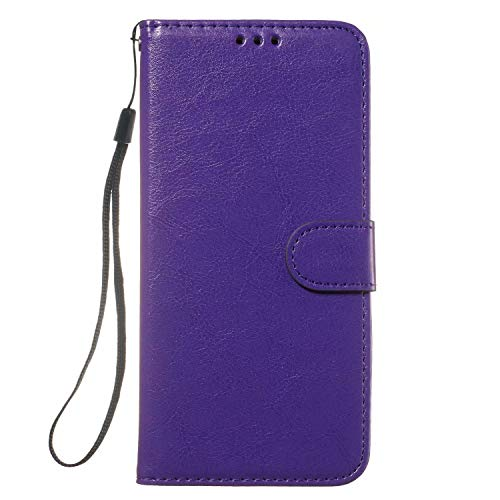 Samsung Galaxy S30/ S21 Case, Shockproof Premium PU Leather Phone Cases, TPU Inner Shell, RFID Blocking, Card Holder Viewing Stand Flip Wallet Cover Compatible with Samsung Galaxy S30/ S21 purple