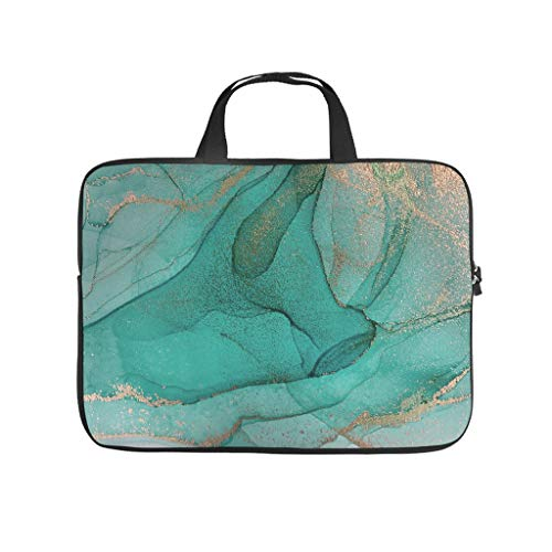 Lightweight Marble Texture Ink Laptop Case Sleeve Bag Laptop Case Laptop -Modern Style for Notebook White 12 Zoll