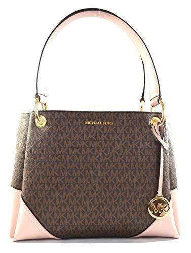 Michael Kors Women's Nicole Large Shoulder Bag Tote Purse Handbag (Blossom)