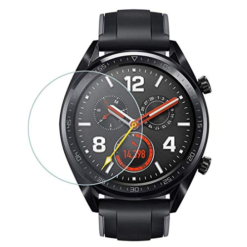 iloft Premium High Definition Ultra Clear Waterproof Tempered Glass Screen Protector for Huawei Watch GT/GT Active/Huawei Fit MES-B19 Smartwatch