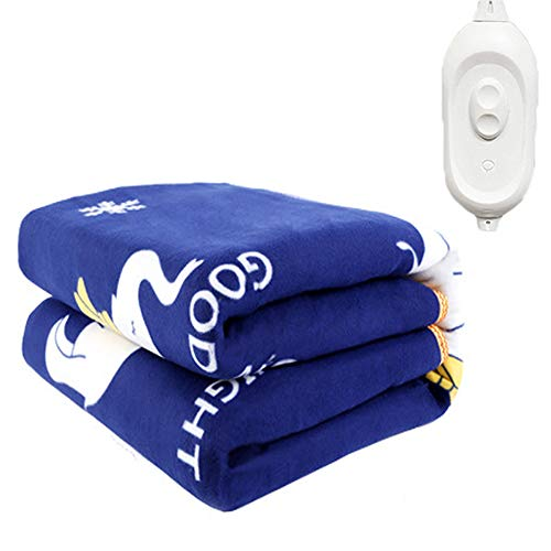 YZT Queen Elektrische deken, 3 snelheden, automatische uitschakeling en bescherming tegen oververhitting, zachte flanellen deken, wasbaar