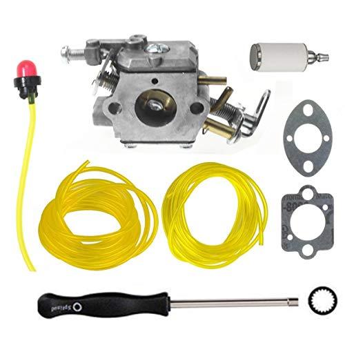 Hippotech C1M-H58 Vergaser mit Dichtungen und Kraftstoffleitung für Ryobi Homelite 308070001 985597001 38cc 46cc Kettensäge