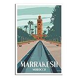 RMLKS Marrakesch, Marokko-Poster, Vintage-Reiseposter,