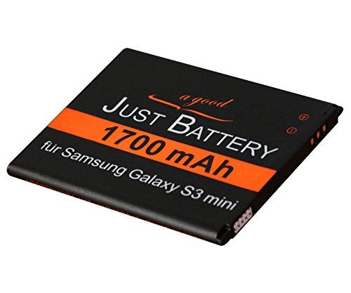 JuBaTec original Akku für Samsung Galaxy S3 Mini GT-i8200 mit 1700 mAh ersetzt EB-F1M7FLU