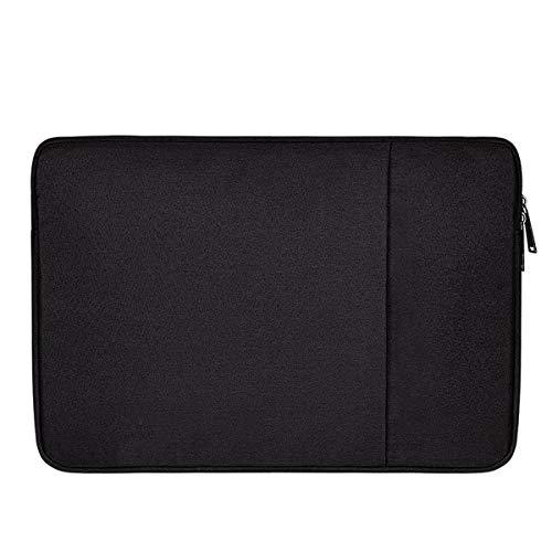 Iycorish wasserdichte Laptop Tasche Hülle Notebook Tasche Für Weiche Rei?Verschluss Hülle Tasche Hülle (Schwarz + 13,3 Zoll)