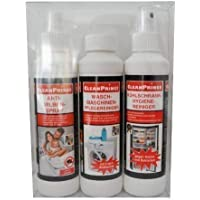 Cleanprince 3 Unidad Alérgico y Higiene Set 1 X Ácaros Espray Colchón 1X Kühlschrankhygienereiniger 1X Lavadora Detergente Alérgenos Alergia Anti Ácaro Bettmilben Spray Antiácaros Colchones Congelador
