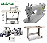 juki 8100e - Industrial Sewing Machine Zoje 8700 Lockstitch Sewing Machine Servo Motor + Table Stand Cut Juki DDL+ LED Lamp Commercial Grade Sewing Machine