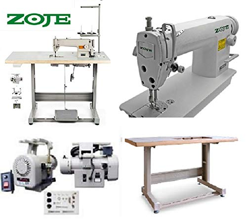 Industrial Sewing Machine Zoje 8700 Lockstitch Sewing Machine Servo Motor + Table Stand Cut Juki DDL+ LED Lamp Commercial Grade Sewing Machine