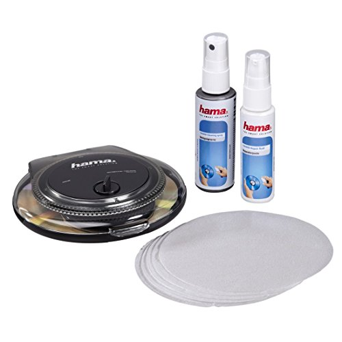 Hama CD/DVD Repair & Cleaning Kit CD's/DVD's - Kit de Limpieza para Ordenador (CD's/DVD's, 25 ml)