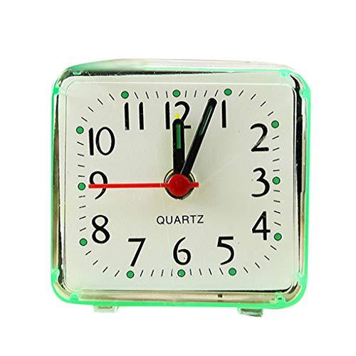 Floridivy Tabel Kwartsklok Bureau Wekker, Quartz tafel alarm, Slaapkamer Battery Powered huis Slaapkamer Kinderkamer nachtkastmodus ABS Case