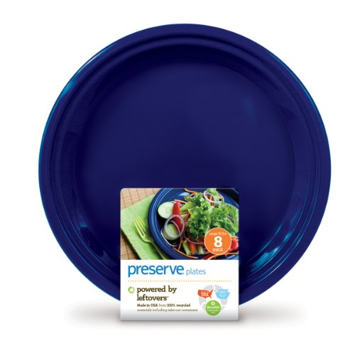 Preserve On the Go Large Plates, Set of 8, Midnight Blue