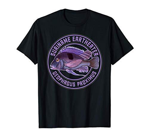 Erdfresser Cichlide Geophagus Buntbarsch Zierfisch Aquarium T-Shirt