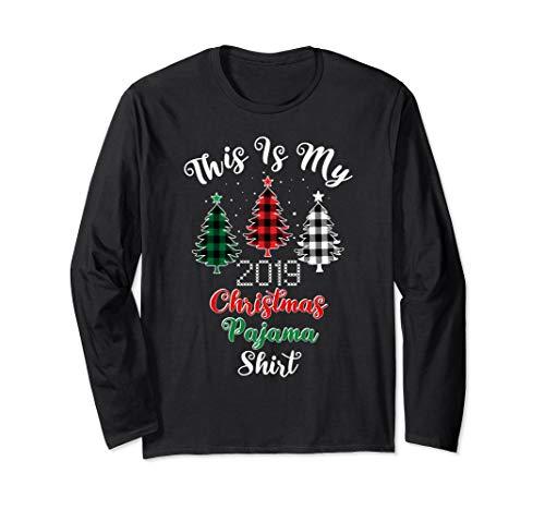 Dies ist meine Christmas Pyjama Buffalo Plaid Trees 2019 Langarmshirt