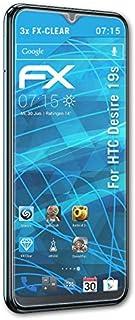 atFoliX Skärmskyddsfilm är kompatibel med HTC Desire 19s Film, ultra-klar FX Skyddsfilm (3X)