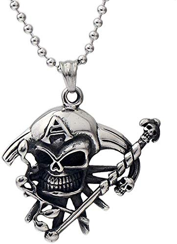 LBBYMX Co.,ltd Necklace Fashion Trendy Hip hop Necklace Classic Fashion Personality for Men and Pendant Skull Necklace Easy to Match Fashion