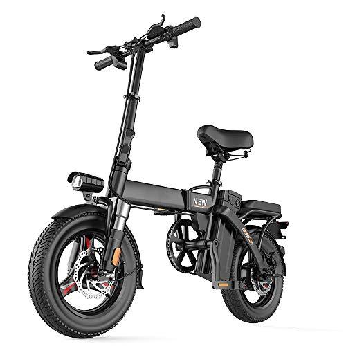 DKZK Bicicletas EléCtricas Plegables para Adultos Bicicleta EléCtrica BateríA Litio ExtraíBle 48 V, Motor Estable Sin Escobillas 280W Soporte 7 Velocidades Profesional 500 Km