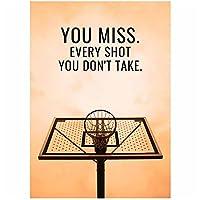 アートワークプリントバスケットボールシューティングキャンバス絵画モダンポップウォールアートインスピレーションを与えるポスターインテリア家の装飾(40x50cm)フレームレス