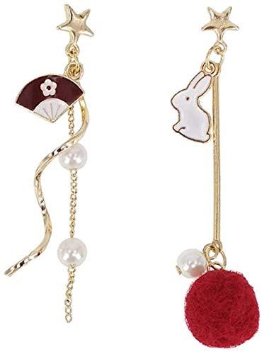 Earring Simple, stylish, cute, versatile, long earrings, exquisite fashion, popular, classic geometric asym