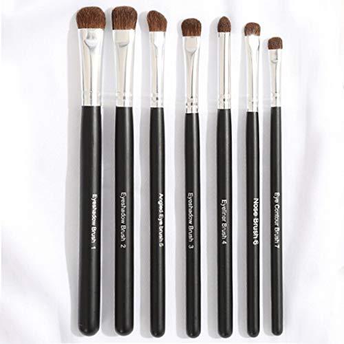 Eyeshadow Brushes 7 pièces de maquillage pour les yeux Brush Set Professional Beauty Tools Ombre à paupières Brosse Smudge Brush Animal Hair (Couleur : Silver)