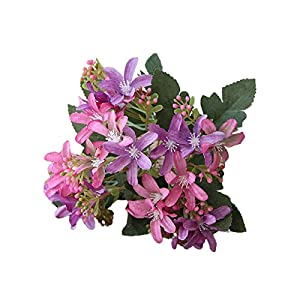 BARMI Simulation Flower Vintage 5 Heads Faux Silk Flower Decoration Artificial Narcissus Flower for Home,Make Your Life be Full of Beautiful Vitality, Good Memories Dark Purple