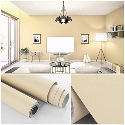 ZOEGATE Selbstklebende Folie Möbelfolie Klebefolie Möbelsticker Plotterfolie Aufkleber Küchenschränke PVC Küchenfolie Tapeten wasserfest Aufkleber für Schrank 61x500cm für Möbel Küche Tür Deko