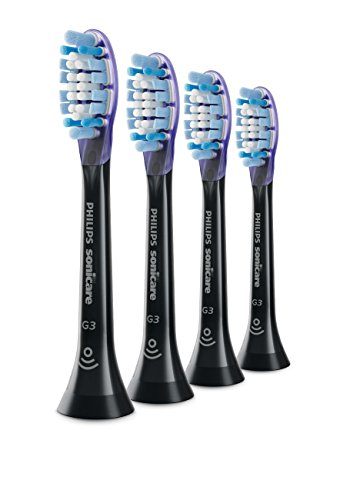 Genuine Philips Sonicare Premium Gum Care replacement toothbrush heads, HX9054/95, BrushSync technology, Black 4-pk