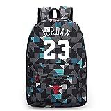 LLKSS Baloncesto Jordan # 23 Canvas Schoolbag Bulls Mochila Hombres Mochila Mujer Moda...