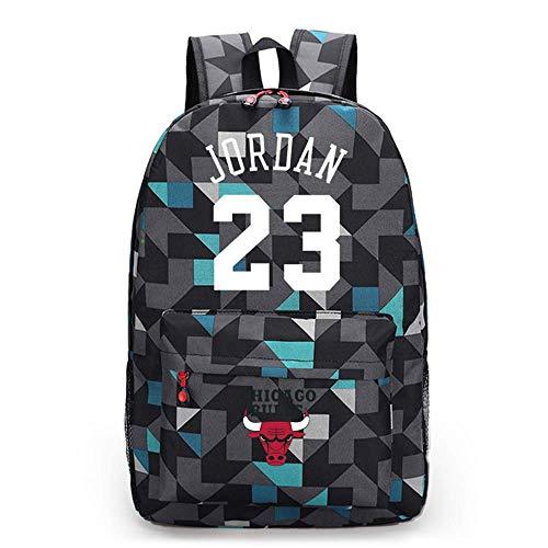LLKSS Baloncesto Jordan # 23 Canvas Schoolbag Bulls Mochila