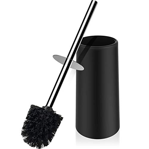 Premium Toilet Brush and Holder,Toilet Bowl Brush with 304 Stainless Steel Long Handle, Hidden Toilet Brush with Durable Scrubbing Bristles for Bathroom Deep Cleaning