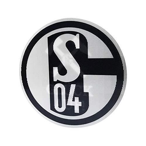 FC Schalke 04 Aufkleber, Autoaufkleber 3D Glück auf schwarz, 10819