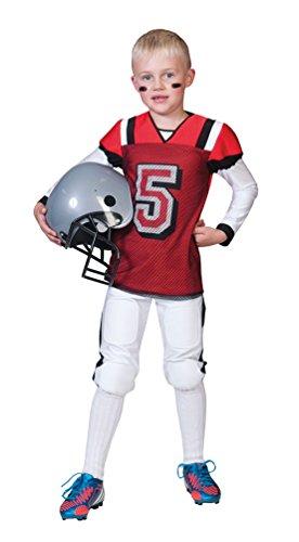 American Football Kostüm für Jungen Gr. 152 - Tolle Verkleidung als American Football Spieler zur Highschool oder Profisportler an Karneval