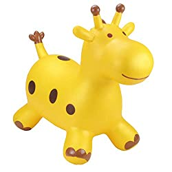 Bright, inflatable animal toys that not only rival the space hopper of the 1970's but take bouncing to a whole new level Come in a variety of colours and animal designs with ears & horns for children to grip on to and feet to steady the bounce Loveab...