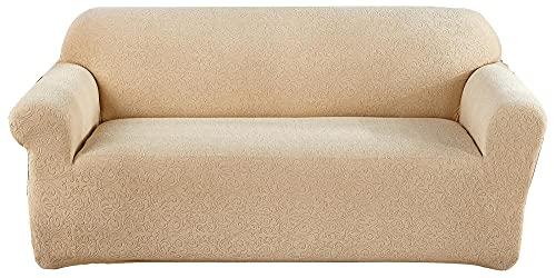 HXTSWGS Protectoras de Muebles,Juego de sofás tallados de Color Puro Engrosado, Juego de Chaise Longue Antideslizante elástico-Yellow_XL
