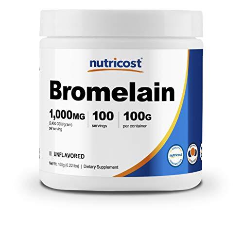 Nutricost Bromelain Powder 100 Grams - Bromelain (2400 GDU/g), Non-GMO, Vegan, Gluten Free