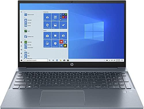 "HP Pavilion 15-eg0018ns - Ordenador Portátil de 15.6"" FHD (Intel Core i7-1165G7, 16GB RAM, 512GB SSD, Intel Iris Xe Graphics, Windows 10 Home) Azul - Teclado QWERTY Español"