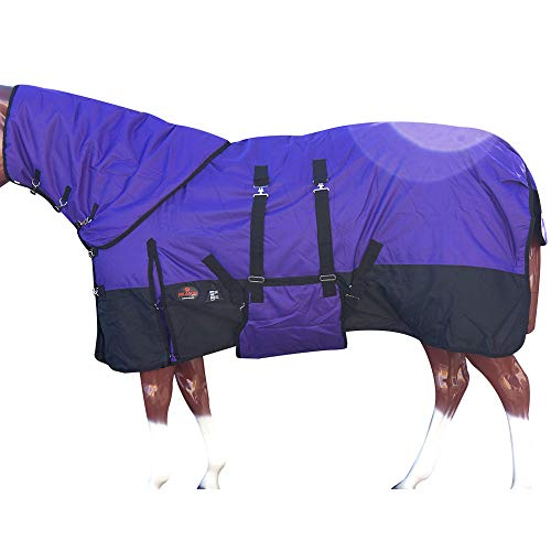 "HILASON 72"" 1200D Waterproof Winter Horse Blanket Neck Cover Belly Wrap"