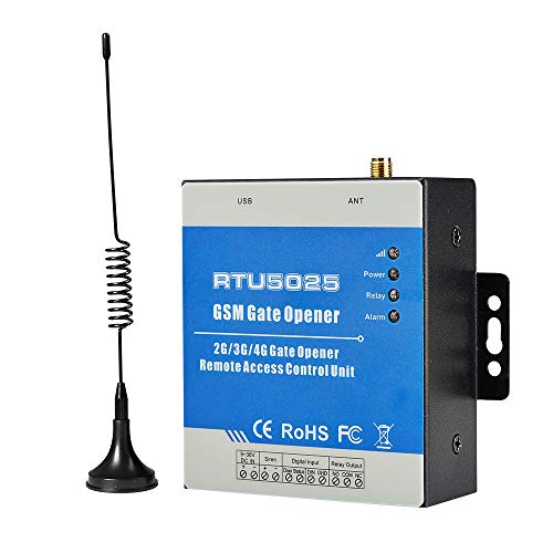 Wireless GSM Gate Opener Swing Garage Door Remote Control Unit Sliding Pump Relay Switch Free Phone Call to Open Supports 999 Users (4G for AT&T,T-Mobile)