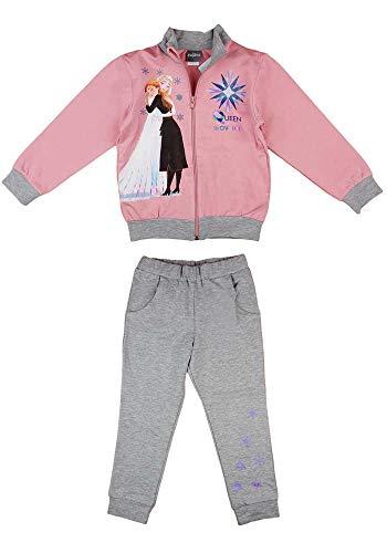 Disney Frozen Eiskönigin Mädchen Jogging-Freizeit-Sport WARM Baumwolle Reissverschlussjacke Freizeithose 104 110 116 122 128 134 Anna und ELSA Farbe Modell 1, Größe 110
