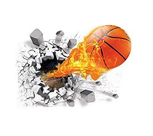 Dosige 1pcs Kreative 3D Basketball Wandaufkleber Wandtattoo Wandsticker Wall Stickers Removable Mural Decals Art Living Room