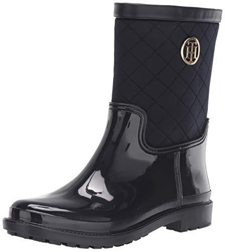 Tommy Hilfiger Women's Splash Rain Boot, Blue, 6