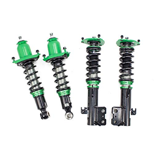 Rev9 R9-HS2-064_1 Hyper-Street II Coilover Suspension Lowering Kit, Mono-Tube Shock w/ 32 Click Rebound Setting, Full Length Adjustable, compatible with Toyota Corolla (E140) 2009-13