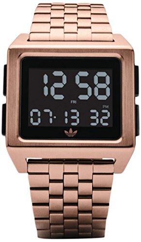 Adidas Damen Digital Uhr mit Edelstahl Armband Z01-1098-00