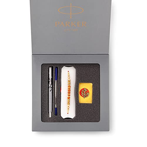 [Apply coupon] Parker Raksha Bandhan Special Edition 1 Vector Roller Ball Pen with Chrome Trim With Rakhi and Roli