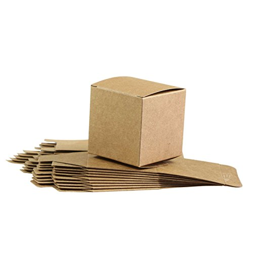 10 Geschenk-Schachteln aus Pappe 60x60mm, braun, Boxen, Kästchen, Karton, Kiste