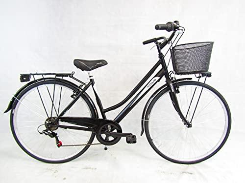 Daytona Bicicletta Donna Bici da Passeggio City Bike 28 Trekking con Cambio 6v e Cesto