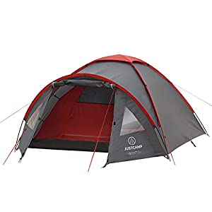 JUSTCAMP Scott 3 Person Dome Tent (300 x 200 x 120 cm)
