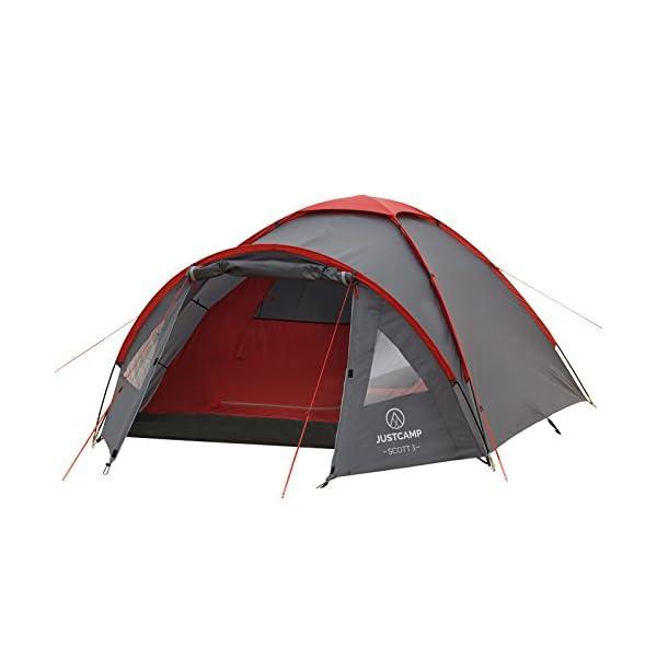 JUSTCAMP Scott 3 Person Dome Tent (300 x 200 x 120 cm)