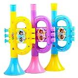 JTLB Trompeta de Payaso Trompeta Infantil de plástico, Trompeta de Juguete Trompeta Infantil Instrumento de Viento de Juguete para Aprender y Practicar Instrumentos Musicales para niños